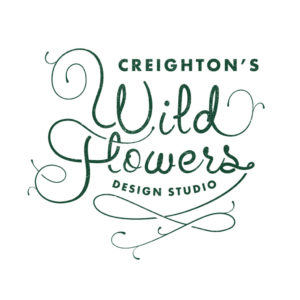 Creightons_Wild_Flowers_Logo_distressed_green_on_white